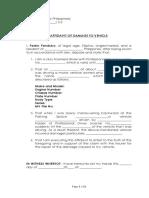 Affidavit of Accident (Blank)