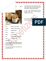Tle Project Appetizer