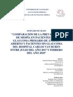 Comparacion Prevalencia miopia en pacientes con GPAA vs sin GPAA
