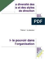 La Diversité Des Dirigeants Et Des Styles de Direction