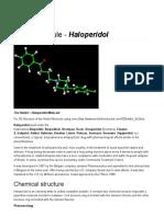Haldol Molecular Structure -- Anti Psychotic Drugs - World of Molecules