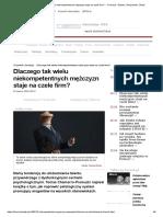 Dlaczego Tak Wielu Niekompetentnych Mężczyzn Staje Na Czele Firm_ - - Forsal.pl – Biznes, Gospodarka, Świat