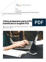 Cómo Prepararse Online Para Rendir El First Certificate in English FCE