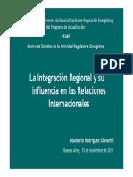 La Integración Regional y Su InfRelacInternac