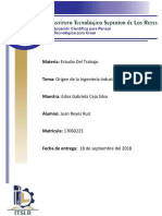 Origen de La Ing. Industrial (Juan Reyes Ruiz- 31da- 17060223)