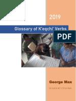 Glossary of K'eqchi' Verbs - G. Max - 2019