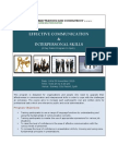 Effective Communication & Interpersonal Skills