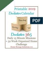 2019 Declutter Calendar Final
