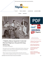 7 Myths About Spanish Colonial Period Filipinos Should All Stop Believing