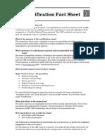 Certification Fact Sheet