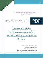 La Prevencion de Las Drogodependencias Desde Los Servicios Sociales Municipales de Tenerife