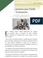 Cadena perpetua para Mehdi Nemmouche