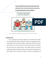 COMPARING AND CONTRASTING ON HOW PSYCHOLOGICAL AND INSTRUCTIONAL VARIABLES AFFECT SECOND LANGUAGE ACQUISITION AND BILINGUALISM AMONG YOUNG LEARNERS