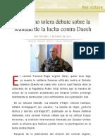 Francia no tolera debate sobre la realidad de la lucha contra Daesh