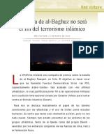 La caída de al-Baghuz no será el fin del terrorismo islámico