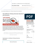 Top Software Testing Interview Questions and Answers for 2018