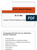 MSc Project Proposal Writing Guide