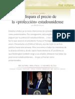 Se dispara el precio de la «protección» estadounidense, por Manlio Dinucci