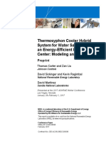 Thermosyphon Cooler Hybrid System for Water Savings in an Energy-Efficient HPC Data Center