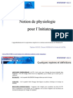 Notion de Physiologie