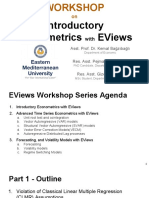 Workshop 4 - Part 1 - Introductory Econometrics With EViews