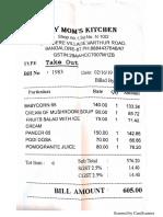 Mom's Kitchen Bill