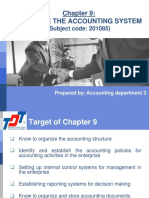 Chapter 9 - Organize the Accounting System