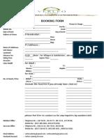 Verleo Booking Form 2016
