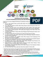Kesepakatan Koalisi Organisasi Profesi 23 Oktober 2017