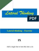 Lateral Thinking - MAS