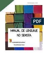 Manual Del Lenguaje No Sexista