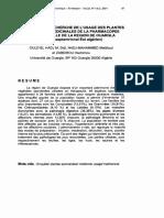INVENTAIRE ET RECHERCHE DE L'USAGE DES PLANTES SPONTANEES MEDICINALES DE LA PHARMACOPEE TRADITIONNELLE DE LA REGION DE OUARGLA (Sahara septentrional Est algérien).pdf