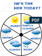 Weather Wheel Poster