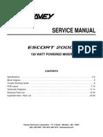 Peavey Escort 2000 service manual