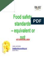Comparison Between Different Standards Linda Jackson