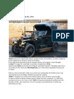 Marta - prima mașină construita in Romania