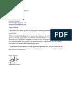 Job Letter for Secretary