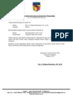 Surat Melaksanakan Tridharma Baru