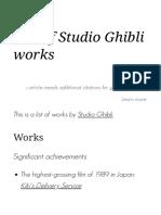 List of Studio Ghibli works - Wikipedia.pdf