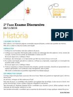 2016 ED Historia