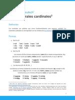 Los números cardinales en alemán