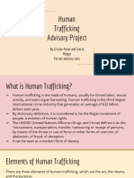human trafficking advisory project