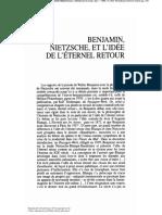 Moses - Benjamin, Nietzsche, et l'idée de l'éternel retour.pdf