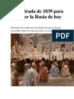 Una Mirada de 1839 Para Entender La Rusia de Hoy