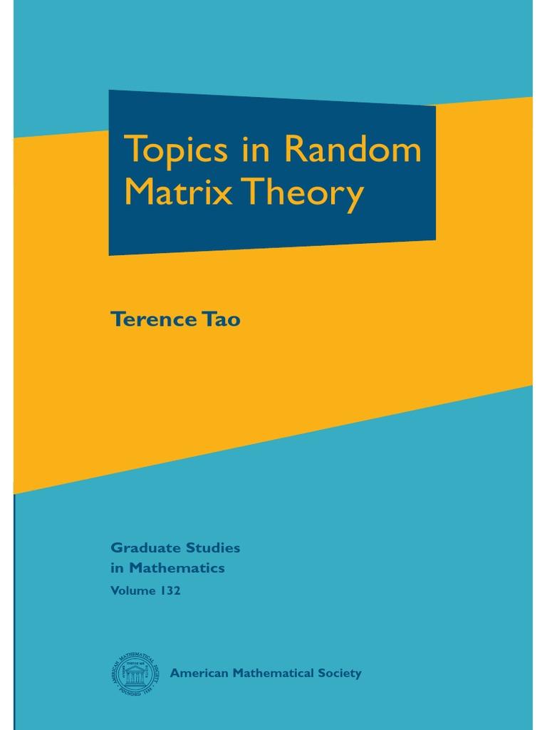 Topics in Random Matrix Theory - Terence Tao
