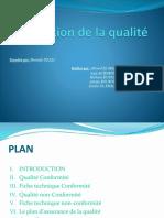 Production de La Qualité