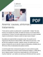 Anemia_ Causas, Síntomas y Tratamiento