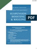 Suspension Hoisting