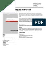 Grammaire Expliquée Du Français Contemporain