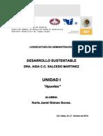 APUNTES unidad I.Karla Janet Gómez Govea